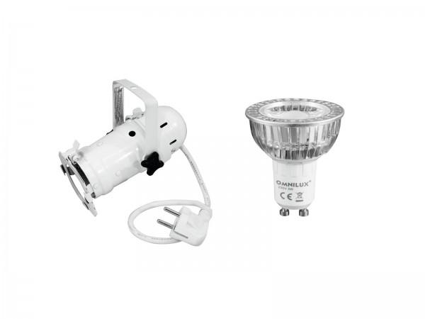 EUROLITE Set PAR-16 Spot ws + GU-10 230V COB 1x3W LED 2700K // EUROLITE Set PAR-16 Spot wh + GU-10 230V COB 1x3W LED 2700K1