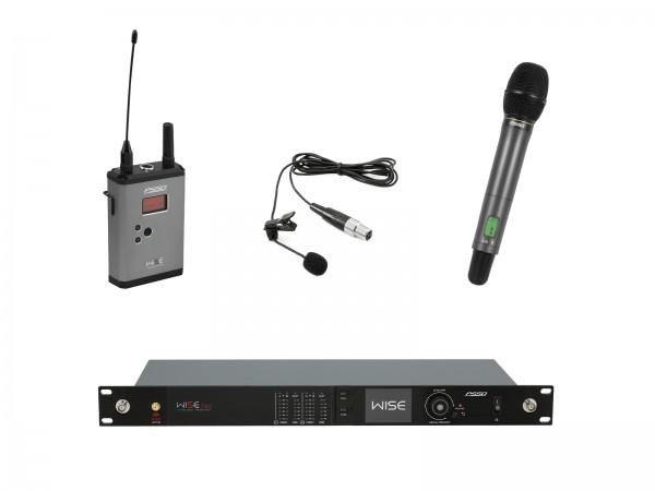 PSSO Set WISE TWO + Dyn. Funkmikrofon + BP + Lavalier 518-548MHz // PSSO Set WISE TWO + Dyn. wireless microphone + BP + Lavalier 518-548MHz1