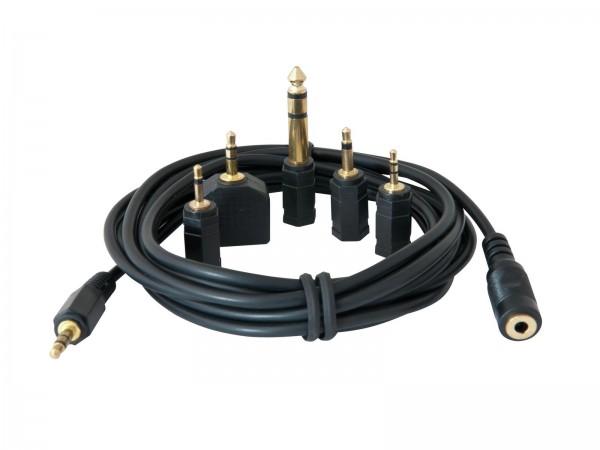 OMNITRONIC Kopfhörerverlängerung 3m mit Adapterset // OMNITRONIC Headphone Extension 3m with Adapter Set1