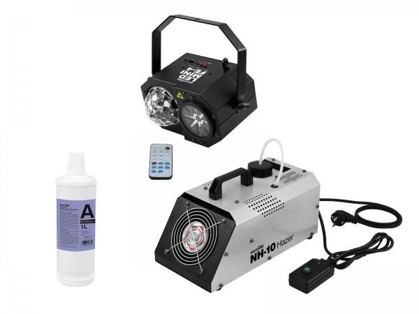 EUROLITE Set LED Mini FE-4 + NH-10 + Smoke Fluid -A2D- 1l // EUROLITE Set LED Mini FE-4 + NH-10 + Smoke Fluid -A2D- 1l1