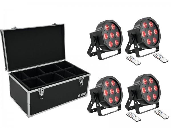 EUROLITE Set 4x LED SLS-7 HCL Floor + Case TDV-1 // EUROLITE Set 4x LED SLS-7 HCL Floor + Case TDV-11