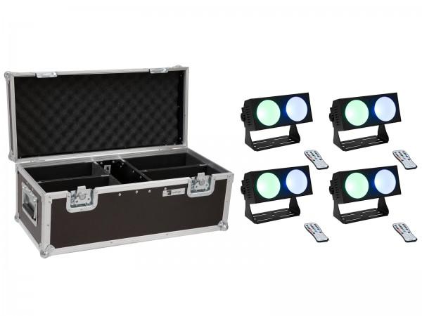 EUROLITE Set 4x LED CBB-2 COB RGB Leiste + Case // EUROLITE Set 4x LED CBB-2 COB RGB Bar + Case1