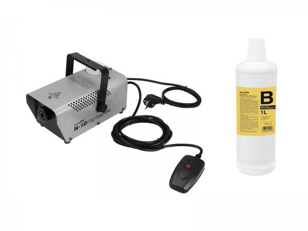 EUROLITE Set N-10 silber + B2D Basic Nebelfluid 1l // EUROLITE Set N-10 silver + B2D Basic smoke fluid 1l1