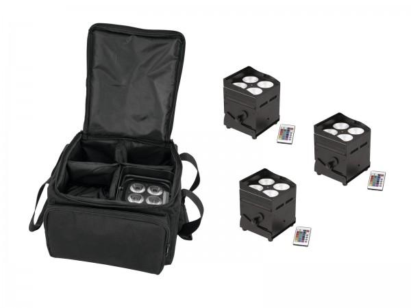 EUROLITE Set 4x AKKU UP-4 QCL Spot QuickDMX + SB-4 Soft-Bag L // EUROLITE Set 4x AKKU UP-4 QCL Spot QuickDMX + SB-4 Soft-Bag L1