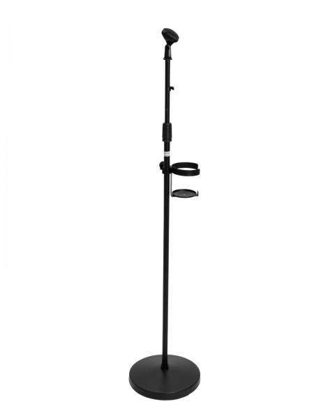 OMNITRONIC Set Mikrofonständer für Desinfektionsmittel, schwarz // OMNITRONIC Set Microphone stand for disinfectant, black1