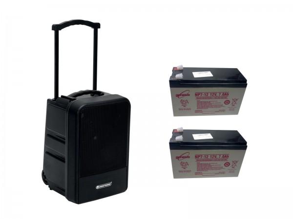 OMNITRONIC Set MOM-10BT4 Modular-Drahtlos-PA-System + 2x Akku // OMNITRONIC Set MOM-10BT4 Modular wireless PA system + 2x Battery1