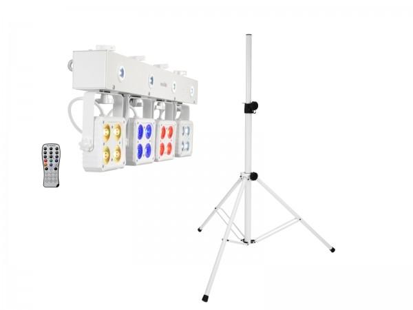 EUROLITE Set LED KLS-180 weiß + BS-2 EU Boxenhochständer weiß // EUROLITE Set LED KLS-180 white + BS-2 EU Loudspeakerstand white1