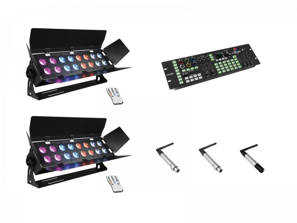 EUROLITE Set 2x Stage Panel 16 + Color Chief + QuickDMX Sender + 2x Empfänger // EUROLITE Set 2x Stage Panel 16 + Color Chief + QuickDMX transmitter + 2x receiver1