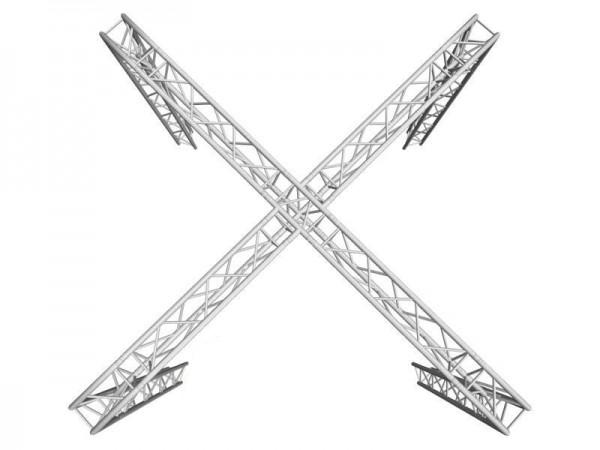 ALUTRUSS Traversenset TRILOCK 6082 X-Messestand 6,71x6,71x3m (BxTxH) // ALUTRUSS Truss set TRILOCK 6082 X stand 6.71x6.71x3m (WxDxH)1