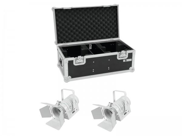 EUROLITE Set 2x LED THA-40PC ws + Case // EUROLITE Set 2x LED THA-40PC wh + Case1