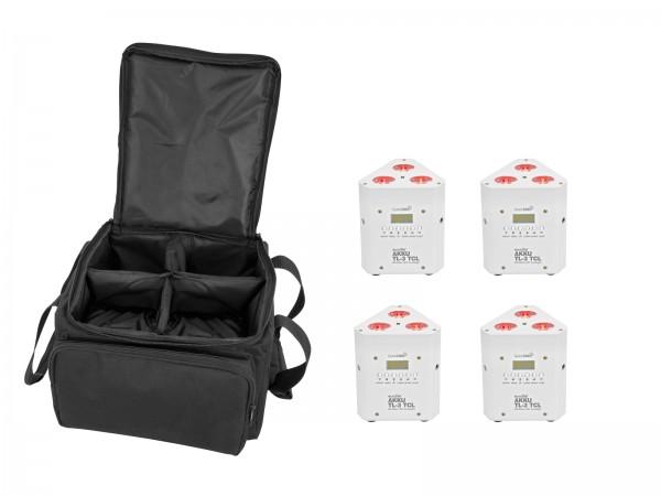 EUROLITE Set 4x AKKU TL-3 TCL weiß + SB-4 Soft-Bag // EUROLITE Set 4x AKKU TL-3 TCL white + SB-4 Soft-Bag1