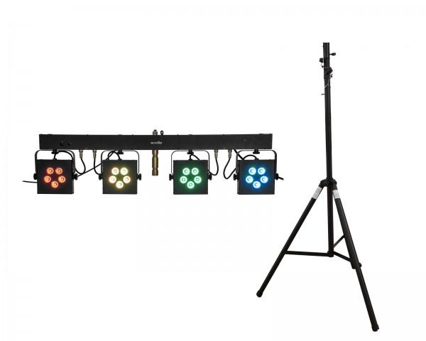 EUROLITE Set LED KLS-902 + STV-40S-WOT Stahlstativ // EUROLITE Set LED KLS-902 + STV-40S-WOT Steel stand1