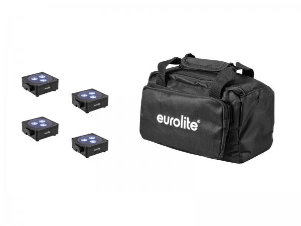 EUROLITE Set 4x AKKU Flat Light 3 sw + Soft-Bag // EUROLITE Set 4x AKKU Flat Light 3 bk + Soft-Bag1