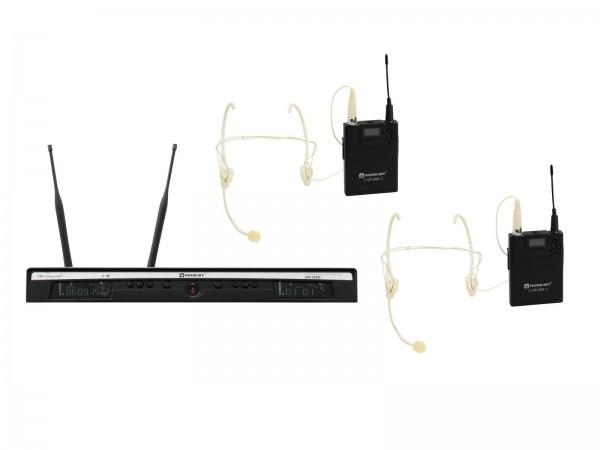 RELACART Set UR-260D Bodypack mit Headset // RELACART Set UR-260D Bodypack with Headset1