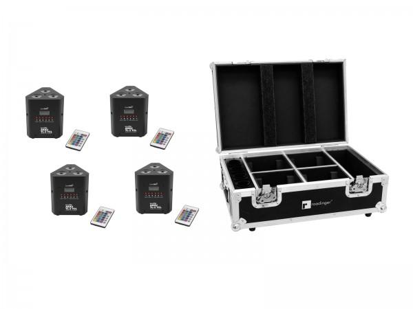 EUROLITE Set 4x AKKU TL-3 TCL QuickDMX + Case mit Ladefunktion // EUROLITE Set 4x AKKU TL-3 TCL QuickDMX + Case with charging function1