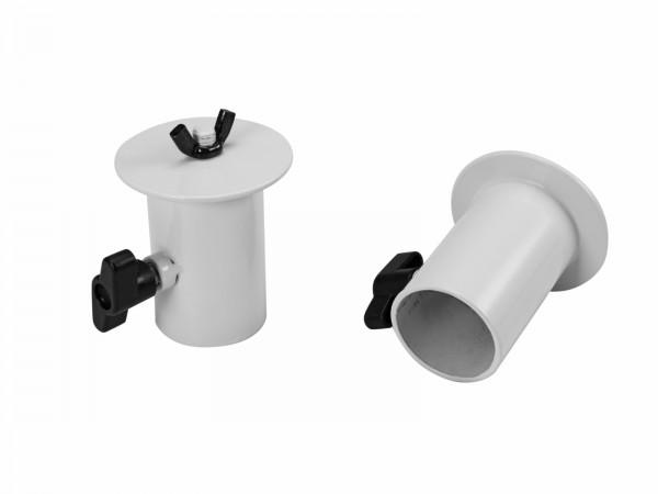 OMNITRONIC BOB-4 Stativhülse weiß 2x // OMNITRONIC BOB-4 Stand Adaptor white 2x1