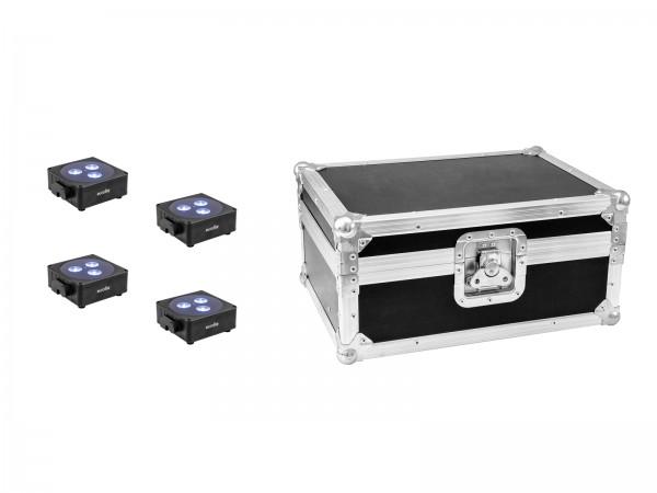 EUROLITE Set 4x AKKU Flat Light 3 sw + Case // EUROLITE Set 4x AKKU Flat Light 3 bk + Case1