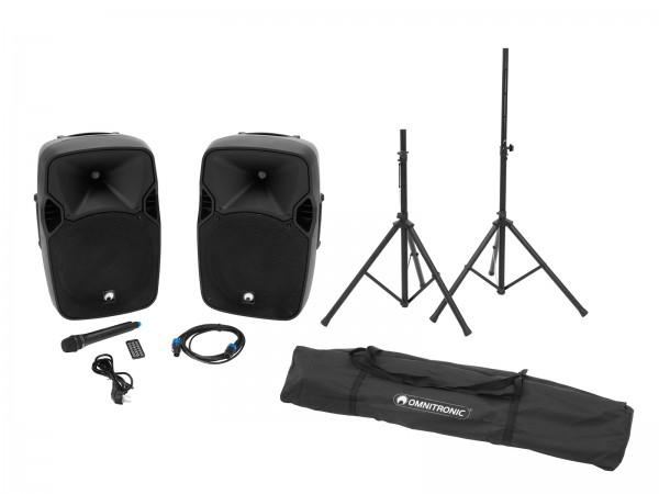 OMNITRONIC Set XFM-212AP + Boxenhochständer MOVE MK2 // OMNITRONIC Set XFM-212AP + Speaker stand MOVE MK21