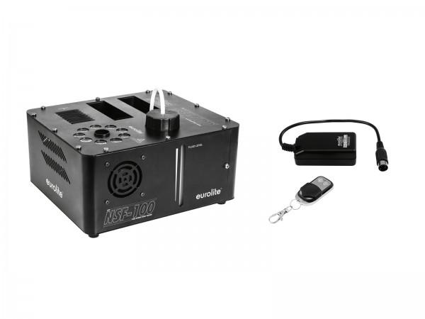 EUROLITE Set NSF-100 LED DMX Hybrid Spray Fogger + WRC-4 Funkfernbedienung // EUROLITE Set NSF-100 LED DMX Hybrid Spray Fogger + WRC-4 Wireless Remote Control1
