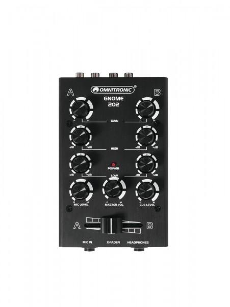OMNITRONIC GNOME-202 Mini-Mixer schwarz // OMNITRONIC GNOME-202 Mini Mixer black1
