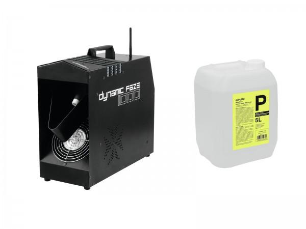 EUROLITE Set Dynamic Faze 1000 + Smoke Fluid -P2D- 5l // EUROLITE Set Dynamic Faze 1000 + Smoke Fluid -P2D- 5l1