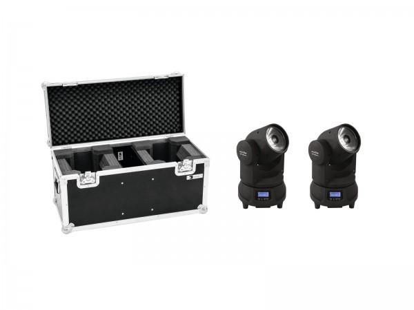 EUROLITE Set 2x LED TMH-X1 Moving-Head Beam + Case // EUROLITE Set 2x LED TMH-X1 Moving-Head Beam + Case1