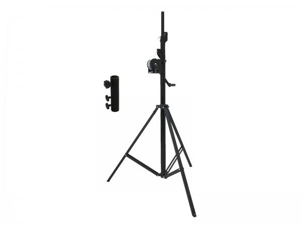 EUROLITE Set STT-400/85 Kurbelstativ TÜV/GS schwarz + STV3529 Adapter lang // EUROLITE Set STT-400/85 Winch stand TÜV/GS black + STV-3529 Adapter long1