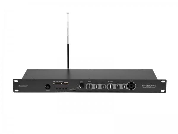 OMNITRONIC EP-220PR Vorverstärker mit MP3-Player und FM-Radio // OMNITRONIC EP-220PR Preamplifier with MP3 Player and FM Radio1