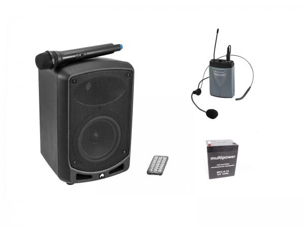 OMNITRONIC Set WAMS-65BT + Taschensender inkl. Headset + Akku // OMNITRONIC Set WAMS-65BT + Bodypack transmitter incl headset + Battery1