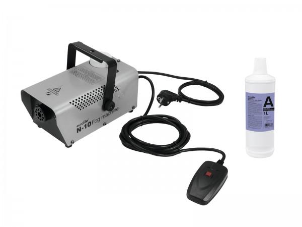 EUROLITE Set N-10 silber + A2D Action Nebelfluid 1l // EUROLITE Set N-10 silver + A2D Action smoke fluid 1l1