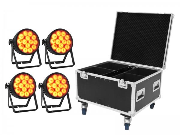 EUROLITE Set 4x LED IP PAR 14x10W HCL + Case // EUROLITE Set 4x LED IP PAR 14x10W HCL + Case1