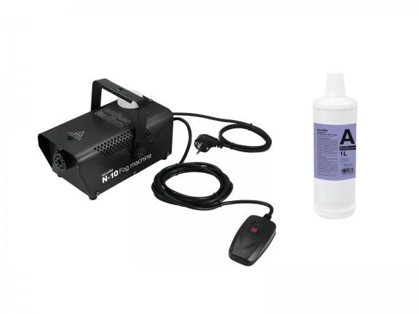 EUROLITE Set N-10 schwarz + A2D Action Nebelfluid 1l // EUROLITE Set N-10 black + A2D Action smoke fluid 1l1