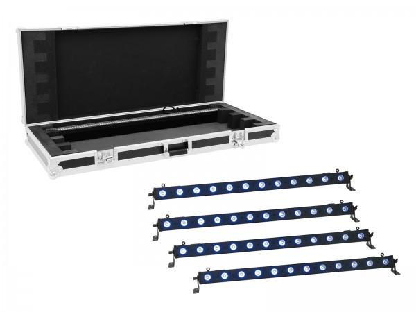 EUROLITE Set 4x LED BAR-12 QCL RGB+UV Leiste + Case // EUROLITE Set 4x LED BAR-12 QCL RGB+UV Bar + Case1