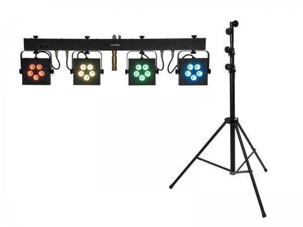 EUROLITE Set LED KLS-902 + STV-60-WOT EU Stahlstativ schwarz // EUROLITE Set LED KLS-902 + STV-60-WOT EU Steel stand black1