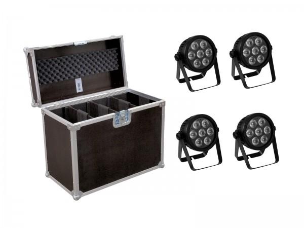EUROLITE Set 4x LED 7C-7 Silent Slim Spot + Case // EUROLITE Set 4x LED 7C-7 Silent Slim Spot + Case1