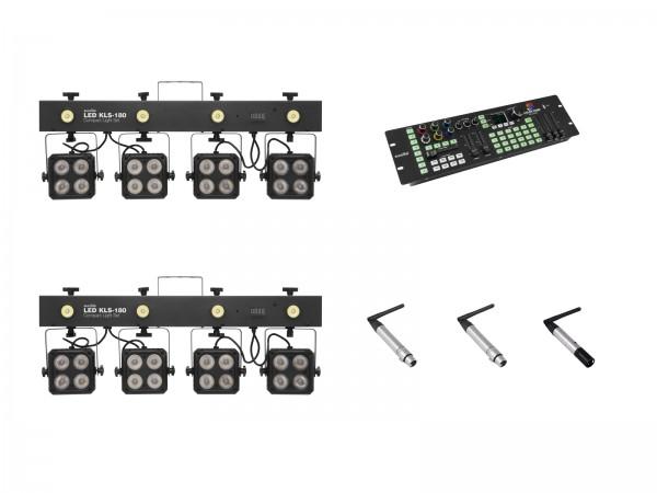 EUROLITE Set 2x KLS-180 + Color Chief + QuickDMX Sender + 2x Empfänger // EUROLITE Set 2x KLS-180 + Color Chief + QuickDMX transmitter + 2x receiver1