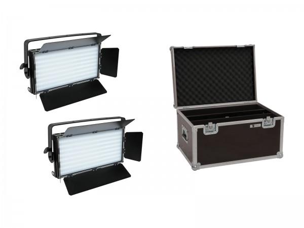 EUROLITE Set 2x LED PLL-480 CW/WW Panel + Case // EUROLITE Set 2x LED PLL-480 CW/WW Panel + Case1