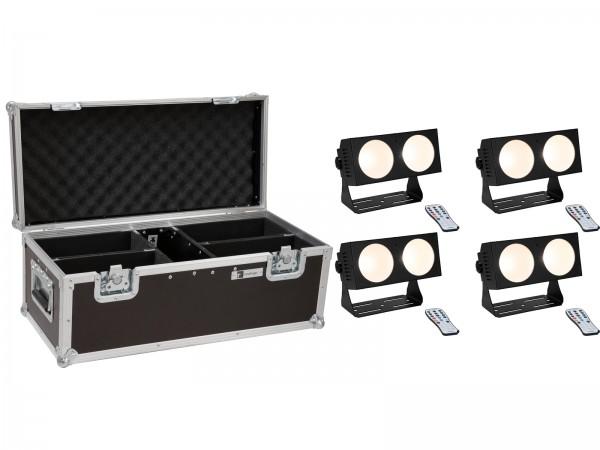 EUROLITE Set 4x LED CBB-2 COB WW Leiste + Case // EUROLITE Set 4x LED CBB-2 COB WW Bar + Case1