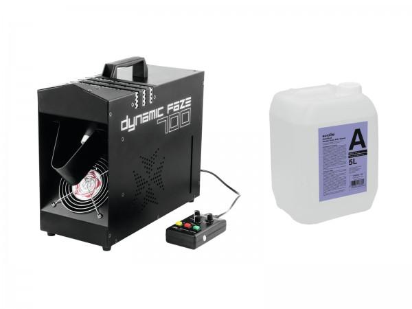EUROLITE Set Dynamic Faze 700 + Smoke Fluid -A2D- 5l // EUROLITE Set Dynamic Faze 700 + Smoke fluid -A2D- 5l1