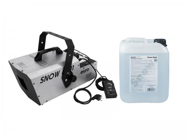 EUROLITE Set Snow 6001 Schneemaschine + Schneefluid 5l // EUROLITE Set Snow 6001 Snow machine + Snow fluid 5l1