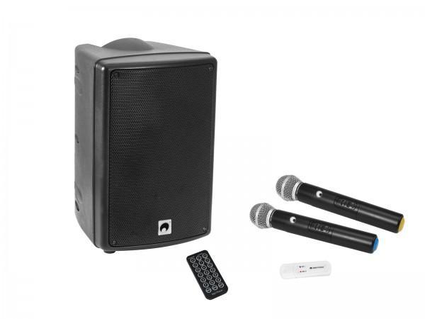OMNITRONIC Set WAMS-08BT MK2 Drahtlos-PA-System + UWM-2HH USB Funkmikrofon-Set // OMNITRONIC Set WMAS-08BT MK2 wireless PA system + UWM-2HH USB Wireless mic set1