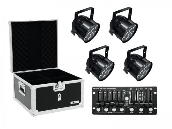EUROLITE Set 4x LED PAR-56 HCL sw + Case + Controller // EUROLITE Set 4x LED PAR-56 HCL bk + Case + Controller1
