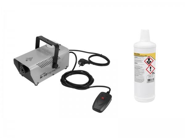 EUROLITE Set N-10 silber + B Basic Nebelfluid 1l // EUROLITE Set N-10 silver + B Basic smoke fluid 1l1