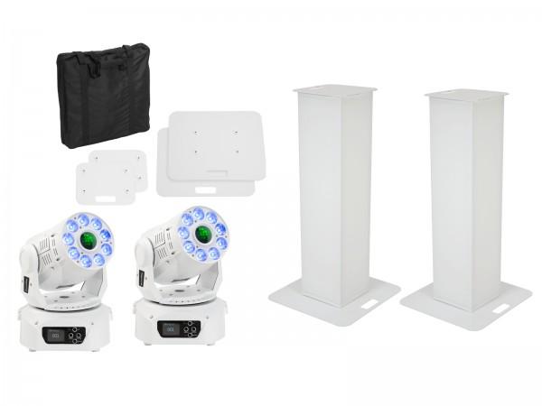 EUROLITE Set 2x Stage Stand 100cm + 2x LED TMH-75 COB weiß // EUROLITE Set 2x Stage Stand 100cm + 2x LED TMH-75 COB white1