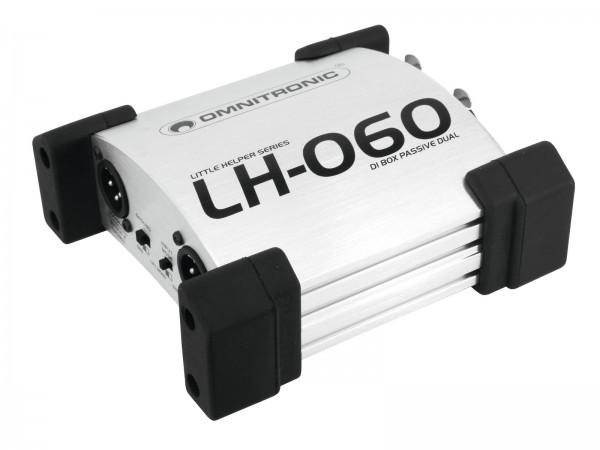 OMNITRONIC LH-060 PRO Duale DI-Box passiv // OMNITRONIC LH-060 PRO Passive Dual DI Box1