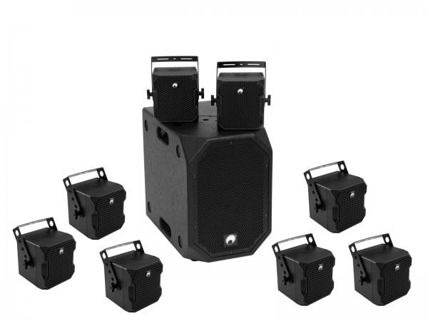 OMNITRONIC Set BOB-10A sw + 8x BOB-4 sw // OMNITRONIC Set BOB-10A bk + 8x BOB-4 bk1