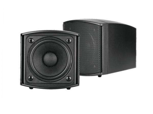 OMNITRONIC OD-2 Wandlautsprecher 8Ohm schwarz 2x // OMNITRONIC OD-2 Wall Speaker 8Ohms black 2x1