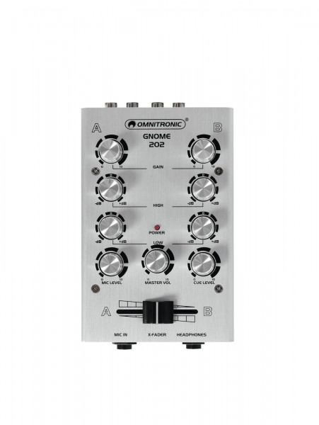 OMNITRONIC GNOME-202 Mini-Mixer silber // OMNITRONIC GNOME-202 Mini Mixer silver1