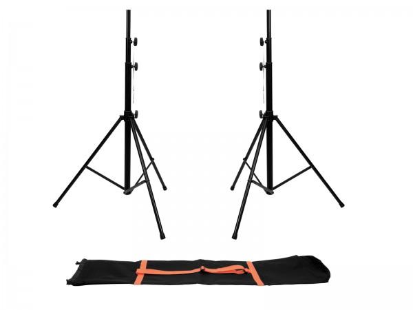EUROLITE Set 2x LS-1 EU Stahl + Tragetasche // EUROLITE Set 2x LS-1 EU Steel + Carrying bag1