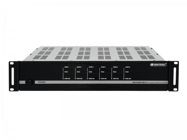 OMNITRONIC MCS-1250 MK2 6-Zonen-Verstärker // OMNITRONIC MCS-1250 MK2 6-Zone PA Amplifier1